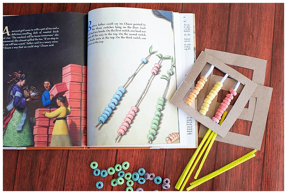 Kids love making their own counting set in the Warlord's Beads activity.