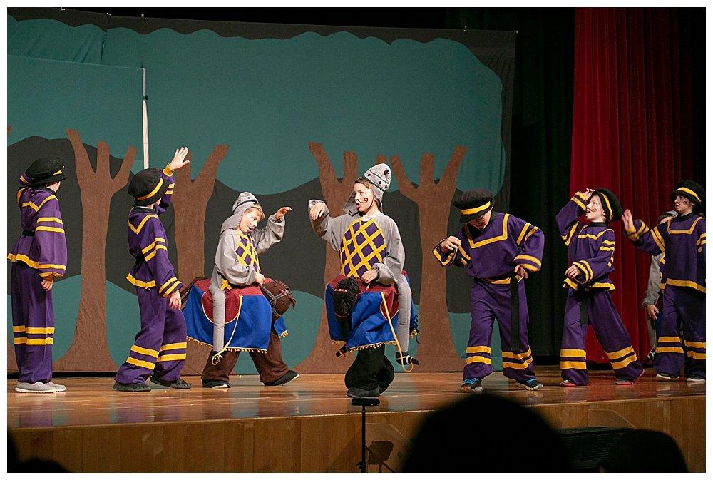Apollo as a horseman in Missoula Children's Theater.