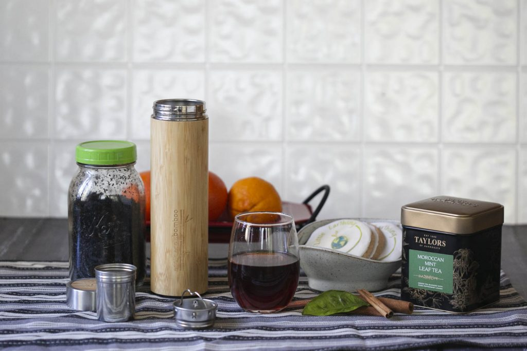 Wooden eabloom pour over tea set.