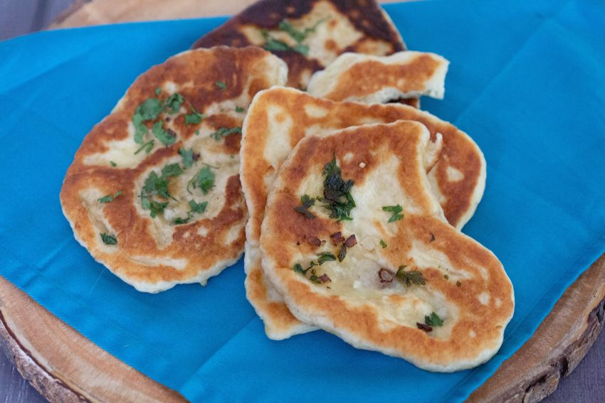 Easy garlic naan bread recipe.