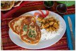 Instant Pot Tikka Masala and Garlic Naan bread.