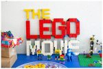 LEGO Movie 2 logo made from LEGO.