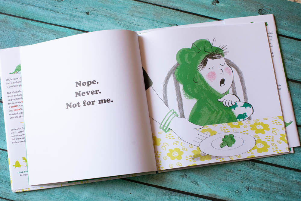 Nope, Never, Not for Me! is a great book for kids with anxiety around eating.