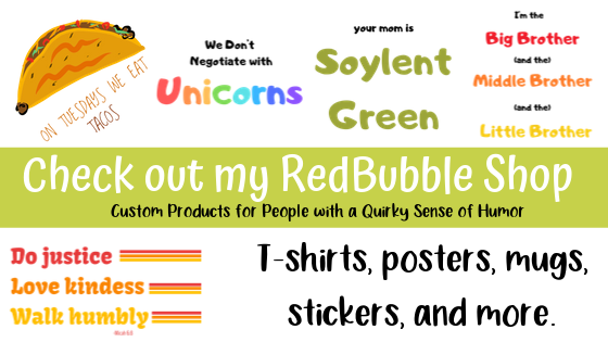 Little Earthling RedBubble Shop: Unique Products for People with a Quirky Sense of Humor.