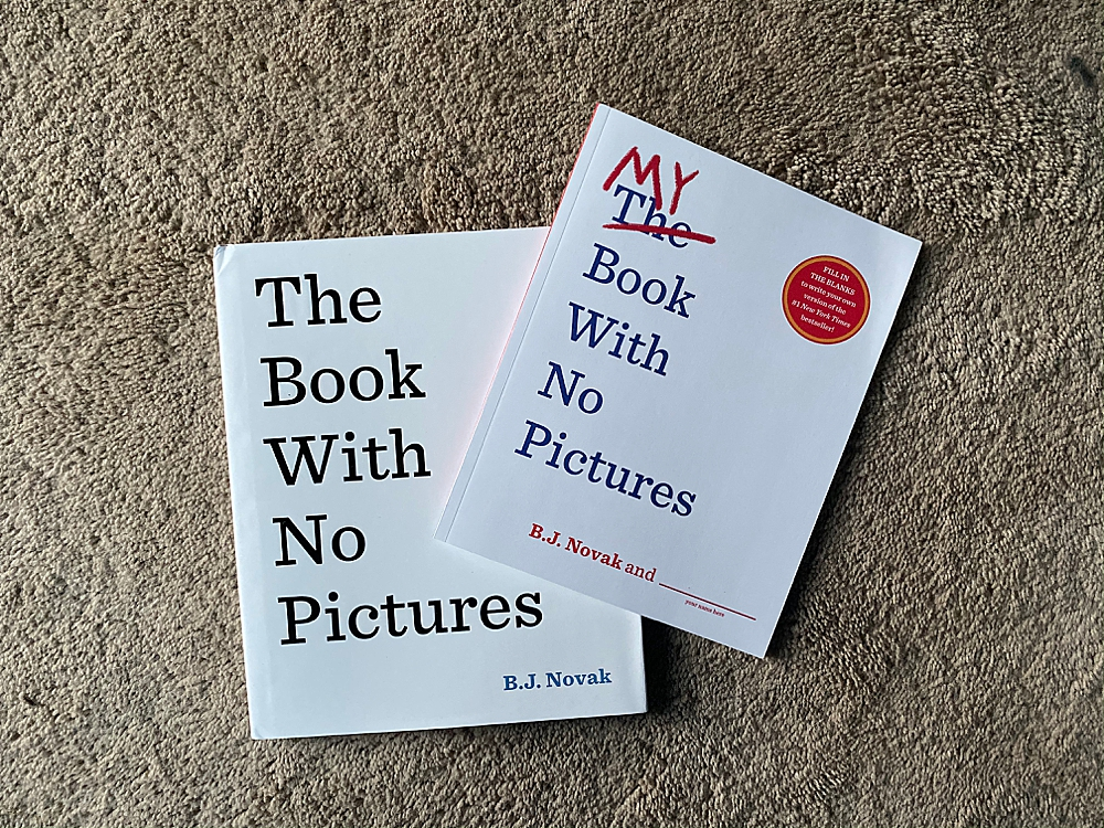 The Book with No Pictures and My Book With No PIctures makes the perfect gift set for kids and adults alike.
