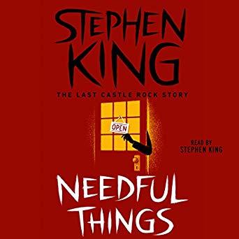 Needful Things by Stephen King spoke to my minimalist heart.