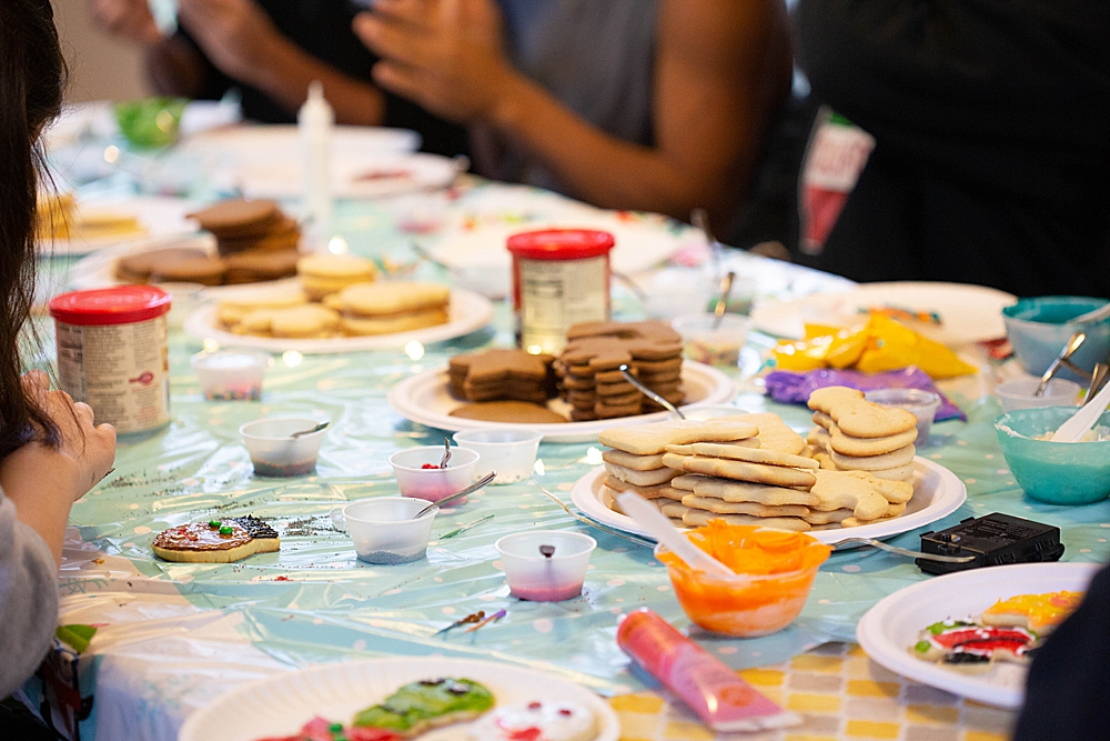 Prep is the key to a stress-free cookie decorating party.
