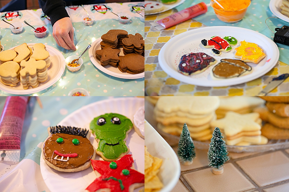 Cookie decorating is a favorite Christmas tradition.