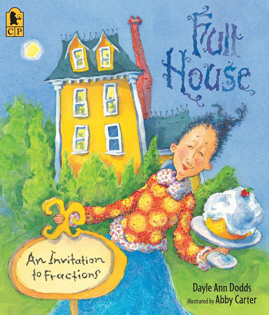 This fun rhyming books teaches kids about fractions in a fun (and funny) way.