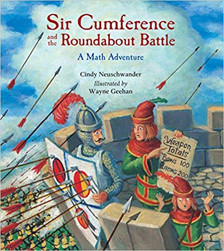 Help your kids love math with Sir Cumference and the Roundabout Battle.