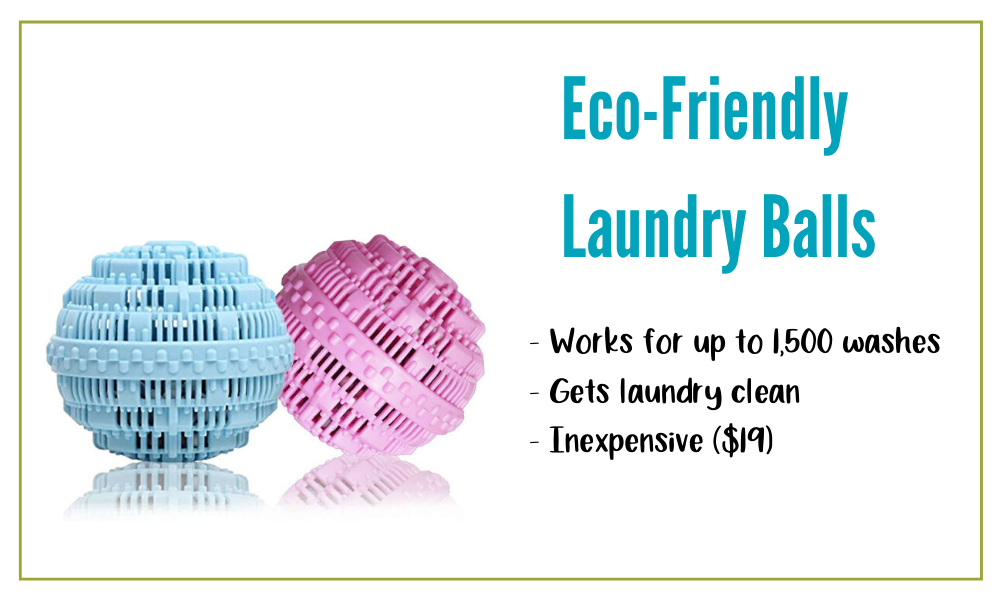 Eco-Friendly Laundry Balls are affordable and effective.