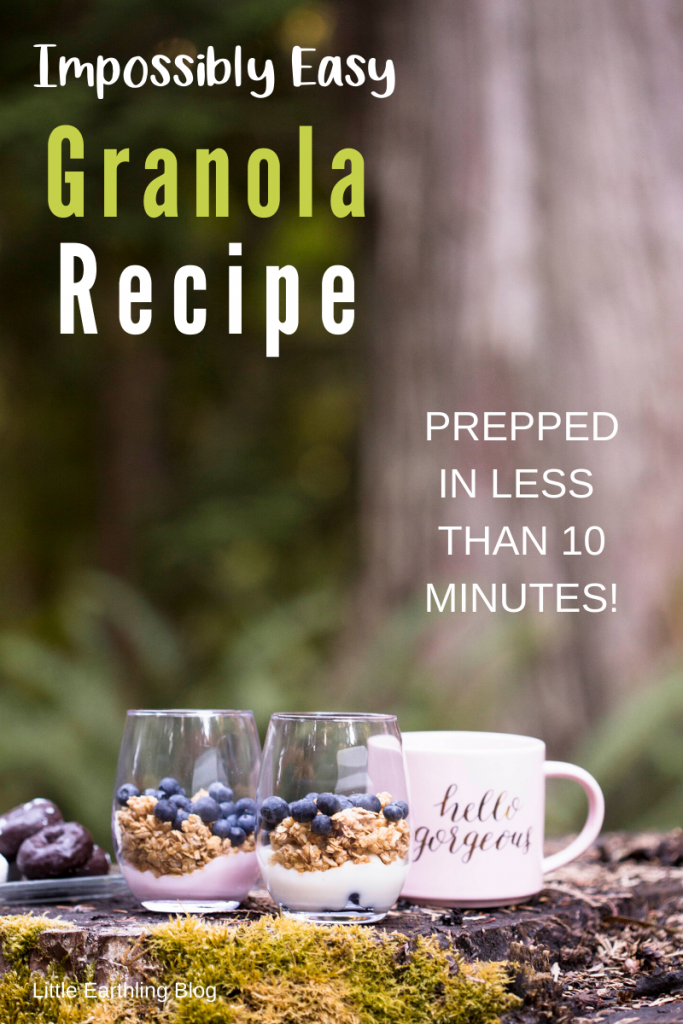 This simple and easy granola recipe can be prepped in less than 10 minutes
