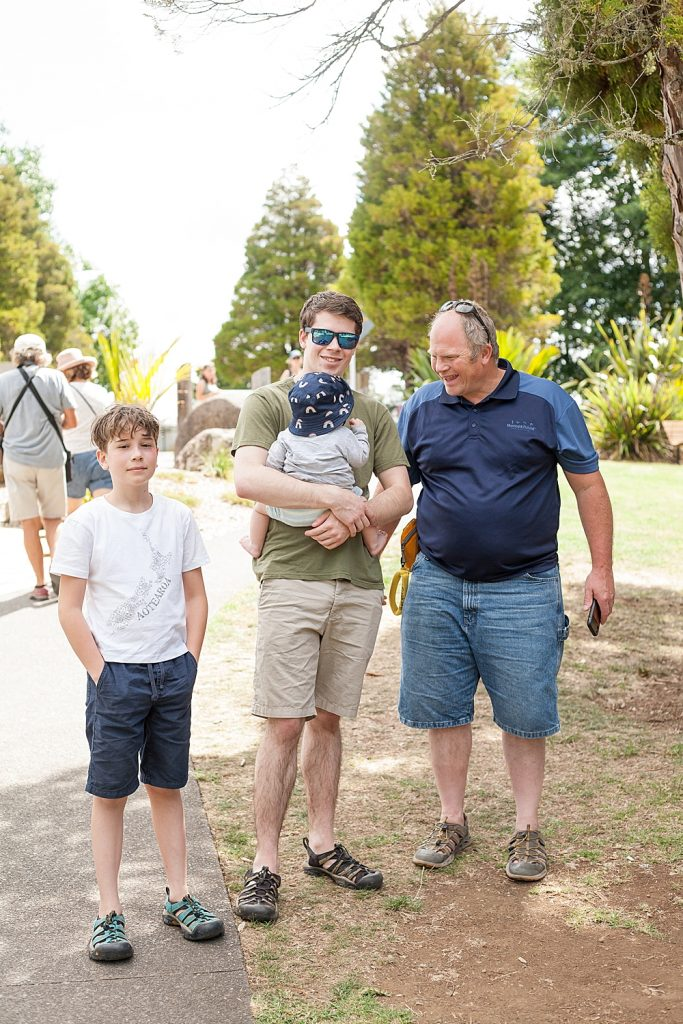 Chuck, Apollo, Judah and Abel in New Zealand.