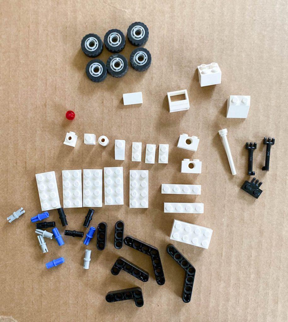 Build a Mars rover out of LEGO bricks.