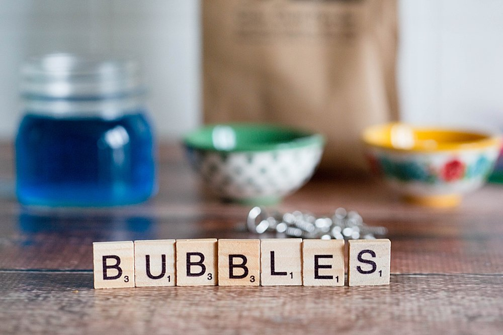 How to make giant bubbles with this bubble mix.