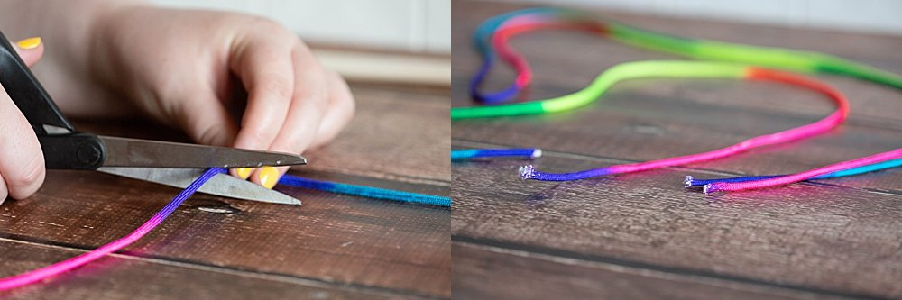 Nylon paracord is perfect for making giant bubble wands