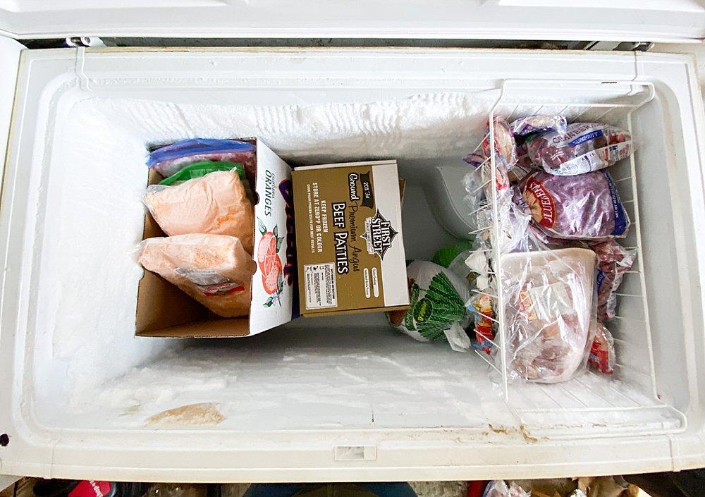Large family organized freezer