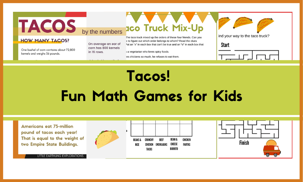 Fun Math Games for Kids- Taco-based projects.