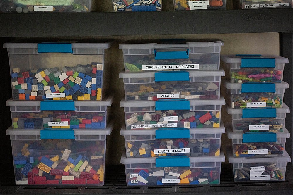 LEGO sorting ideas for large collections.