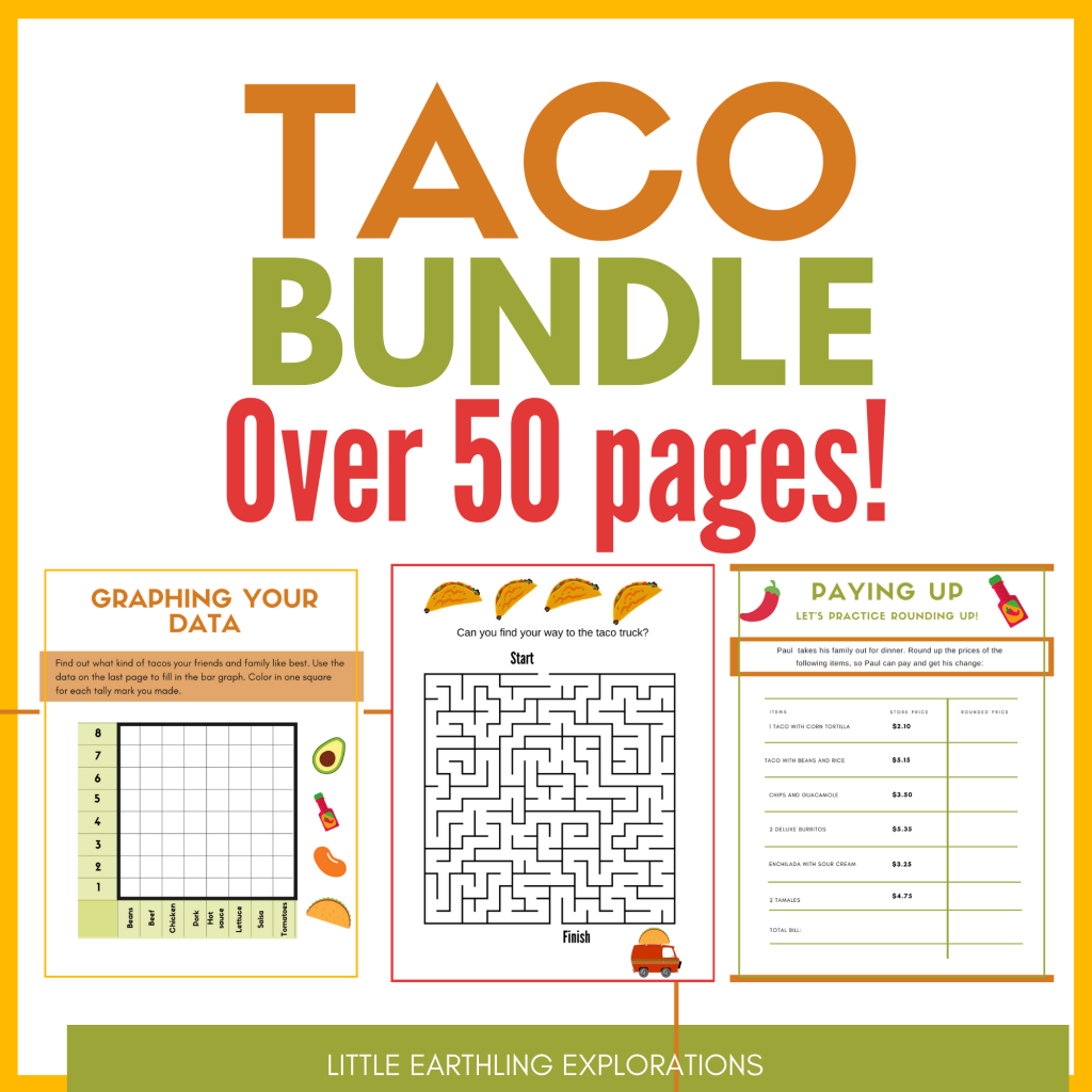 All About Tacos Printable Worsheets and Unit Study
