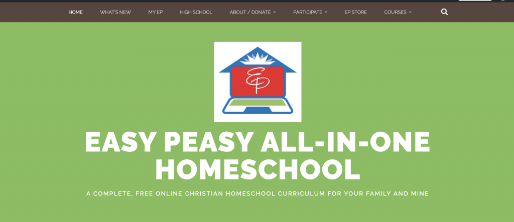 Easy-Peasy all in one homeschool is a great choice for new homeschoolers.