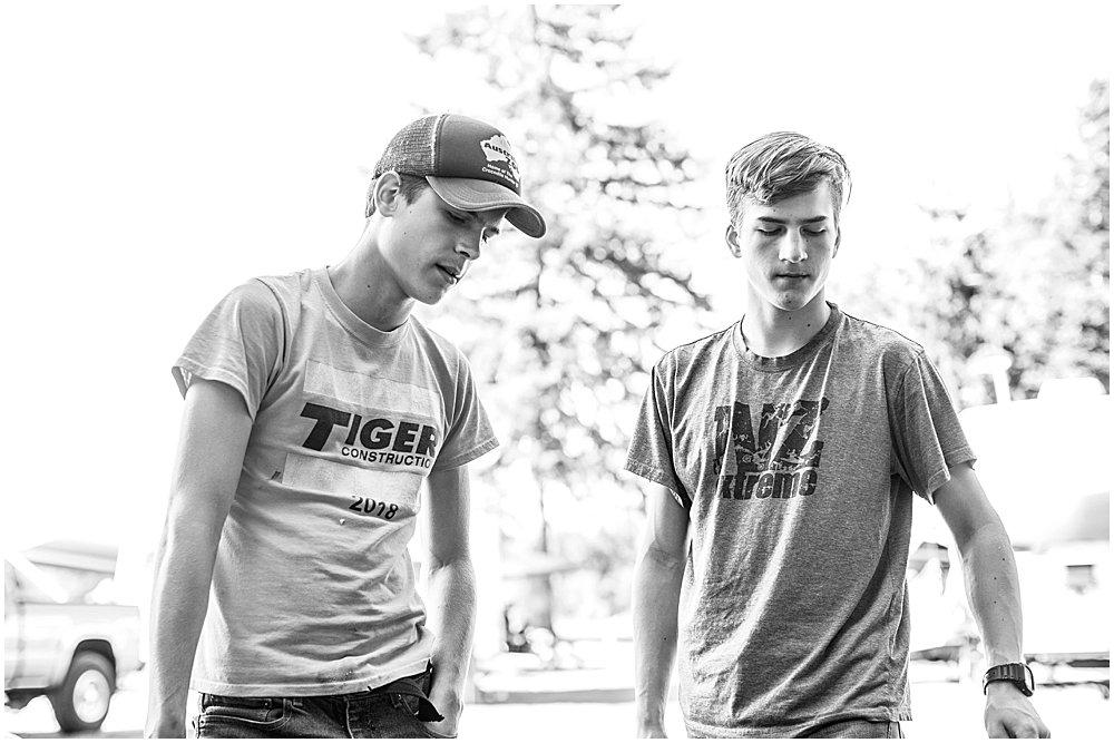 Hezekiah and Tucker at the Burlington KOA