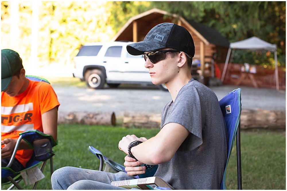 Hezekiah at the KOA campground.