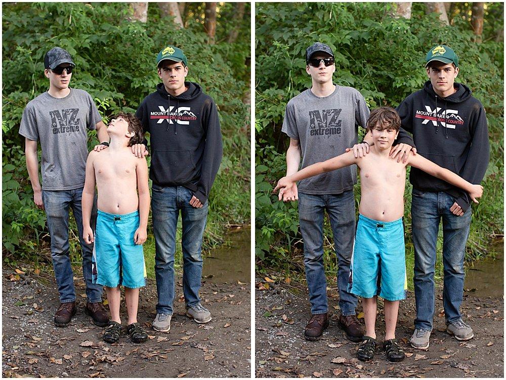 Three happy campers: Hezekiah, Tucker, and Apollo.