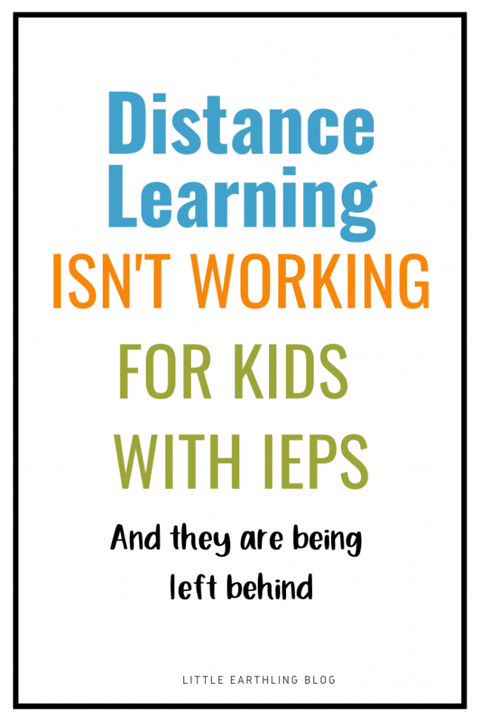 Distance Learning isn't working for kids with IEPs
