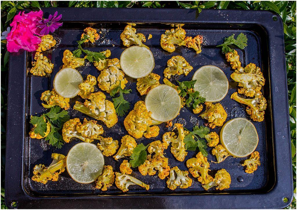 Grilled Curried Cauliflower