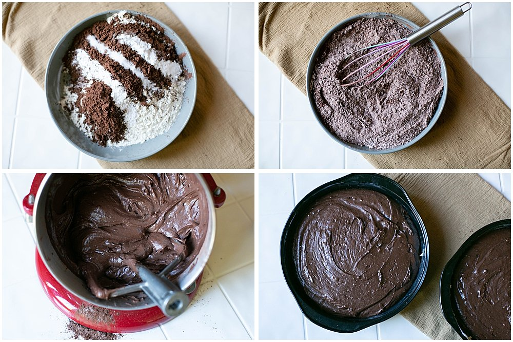 This easy chocolate cake recipe can be mixed in just one bowl.