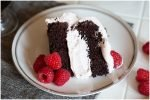 Easy chocolate cake with raspberry filling.