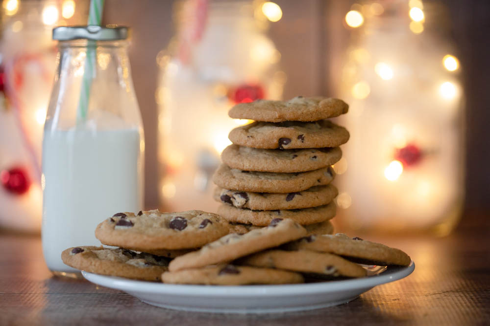 Christmas cookies and milk.