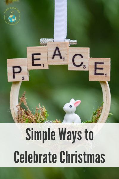 Simple ways to celebrate Christmas with your family.