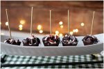 Hot chocolate on a stick makes an amazing presentation for holiday gatherings.