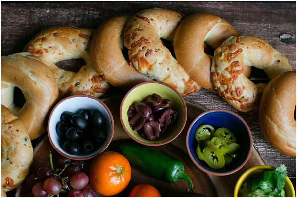 Make an amazing bagel charcuterie board.
