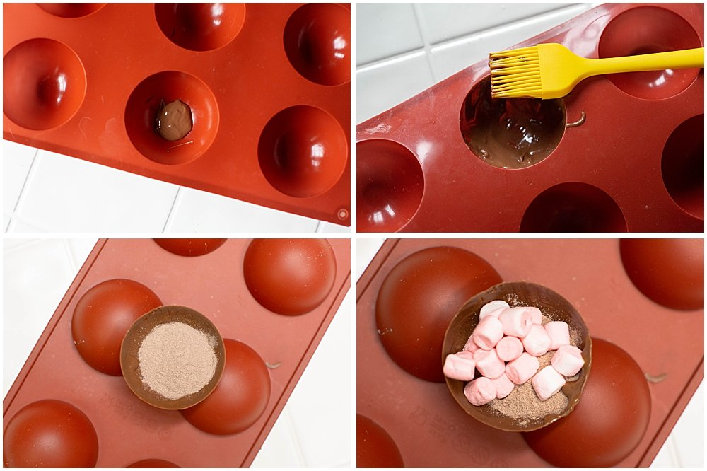 You will need silicone molds to make hot cocoa bombs.
