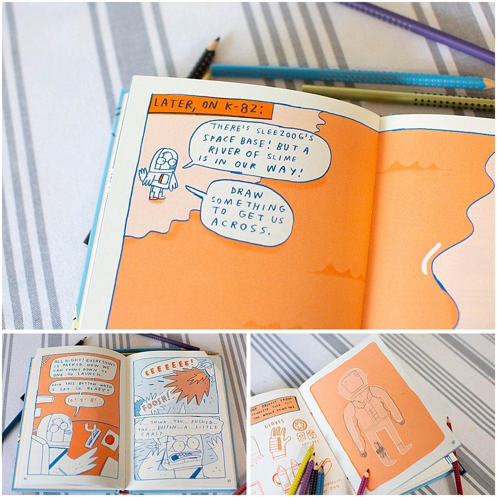 Doodle Adventures is half comic book half drawing book.