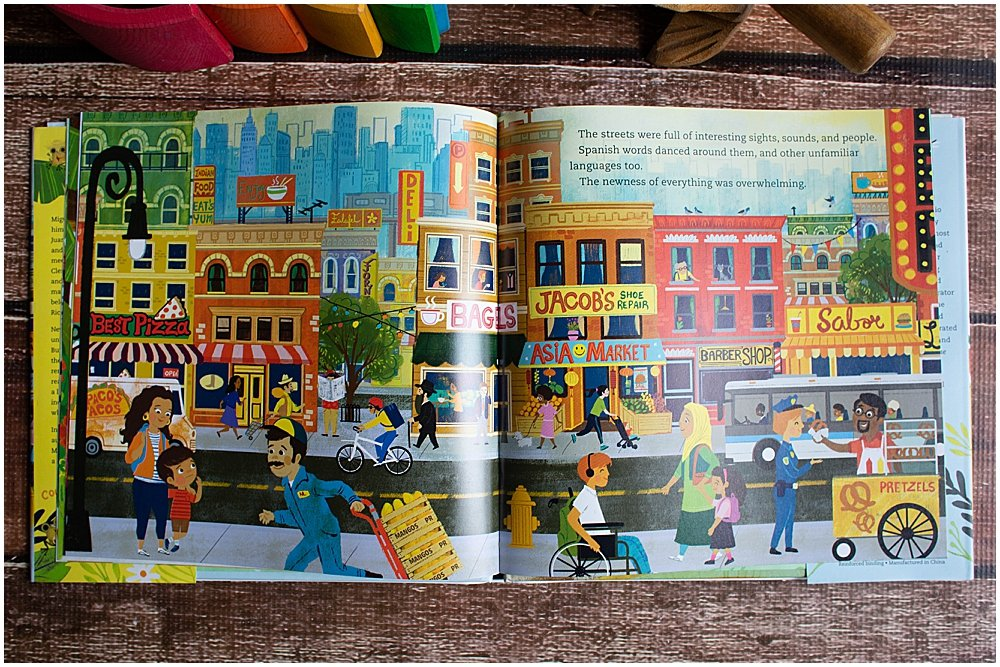 Coqui in the City has beautiful illustartions and diversity of characters.
