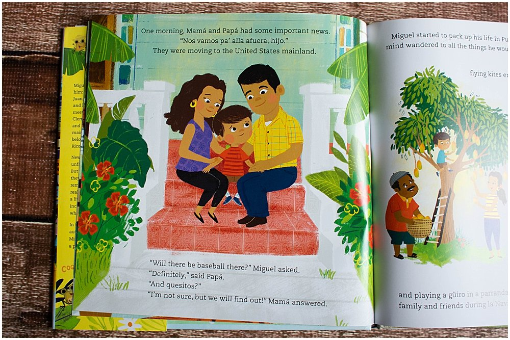 Coqui in the City is a great picture book about a family moving away from Puerto Rico.