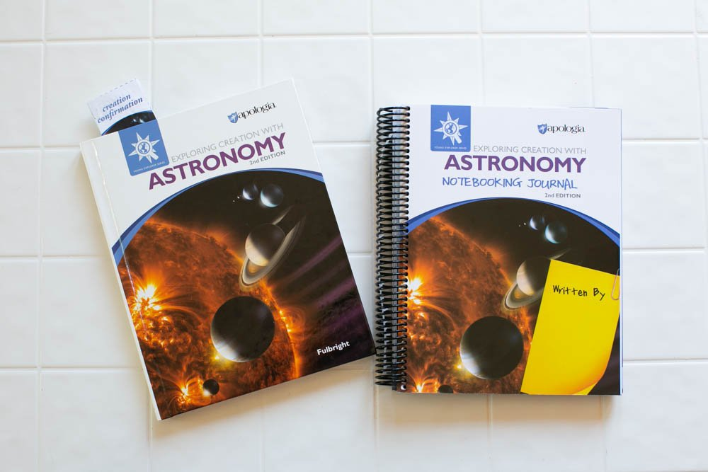 Exploring Creation with Astronomy has a beautiful, full-color textbook.