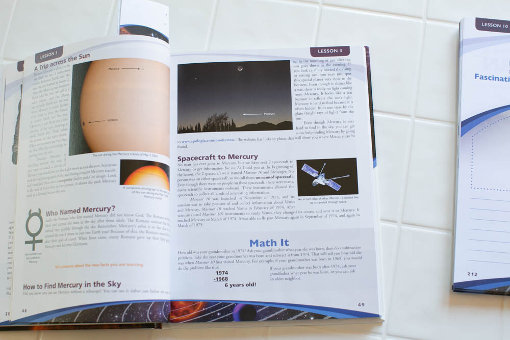 Homeschool science full-color textbook.
