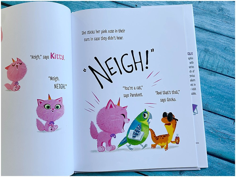 Itty-Bitty Kittycorn is a fun book all about living your dreams.