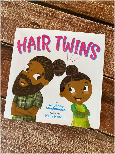 Hair Twins is beautiful book that shows the love between a sikh father and daugther duo.