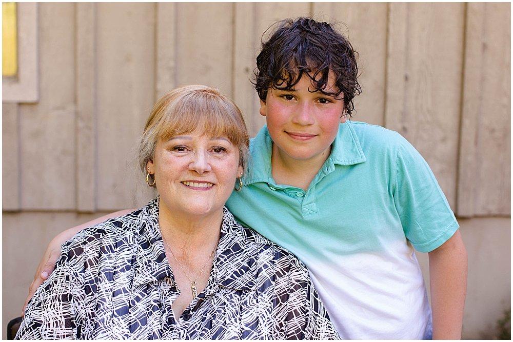 Apollo and his grandma.