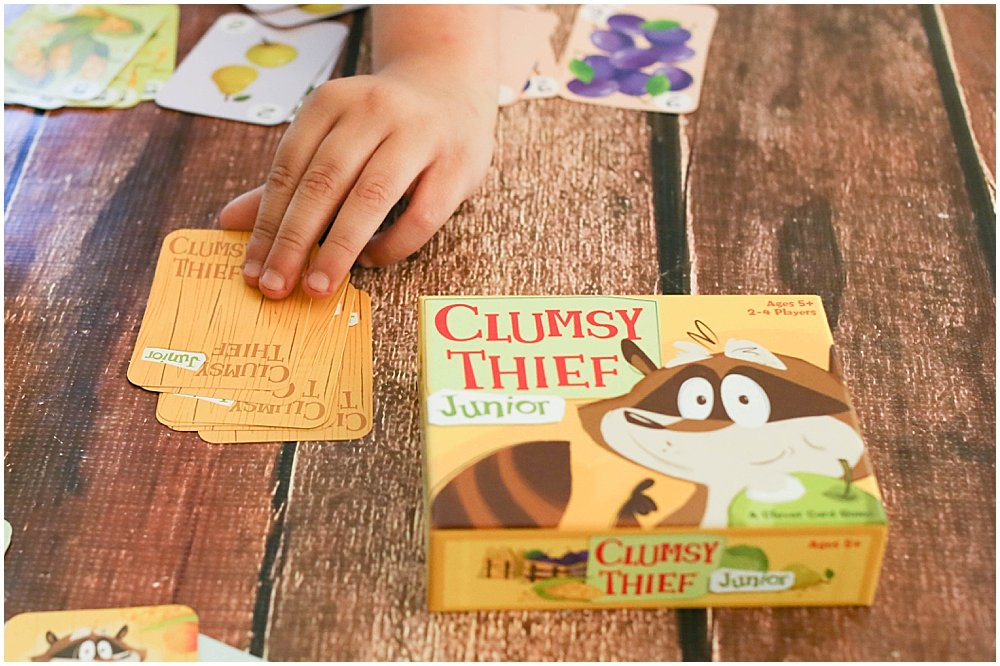 Clumsy Thief Junior is a fun math game for reinforcing math facts up to 10.