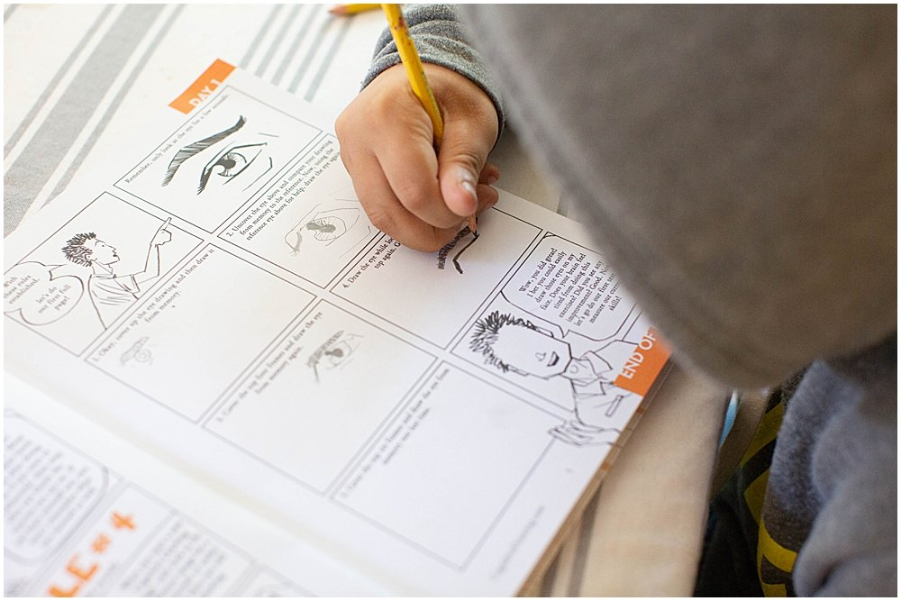 The Cognitive Drawing notebook will turn into a portfolio for your child's work.