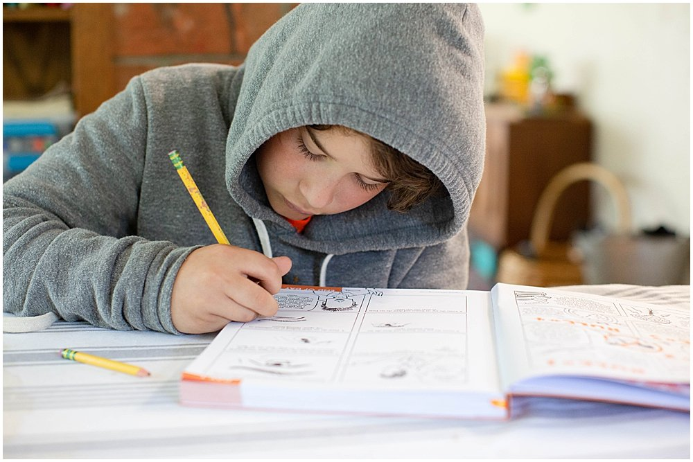 Kids can work through Cognitive Drawing independently.