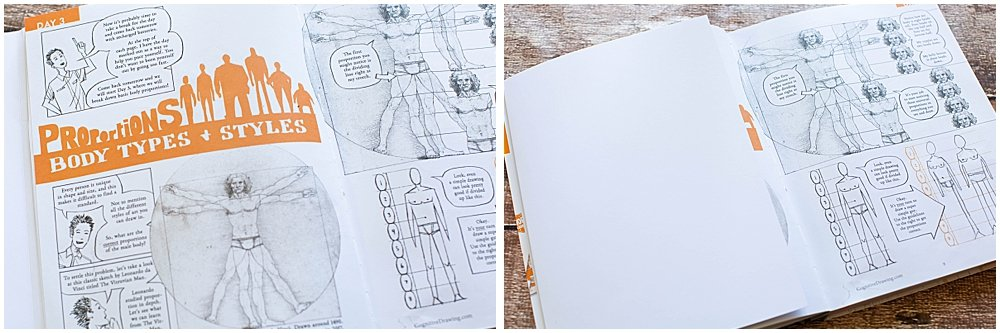 The built-in flap helps cover your work so you can draw from memory.