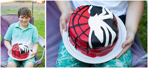 Spiderman venom cake for Apollo's birthday.
